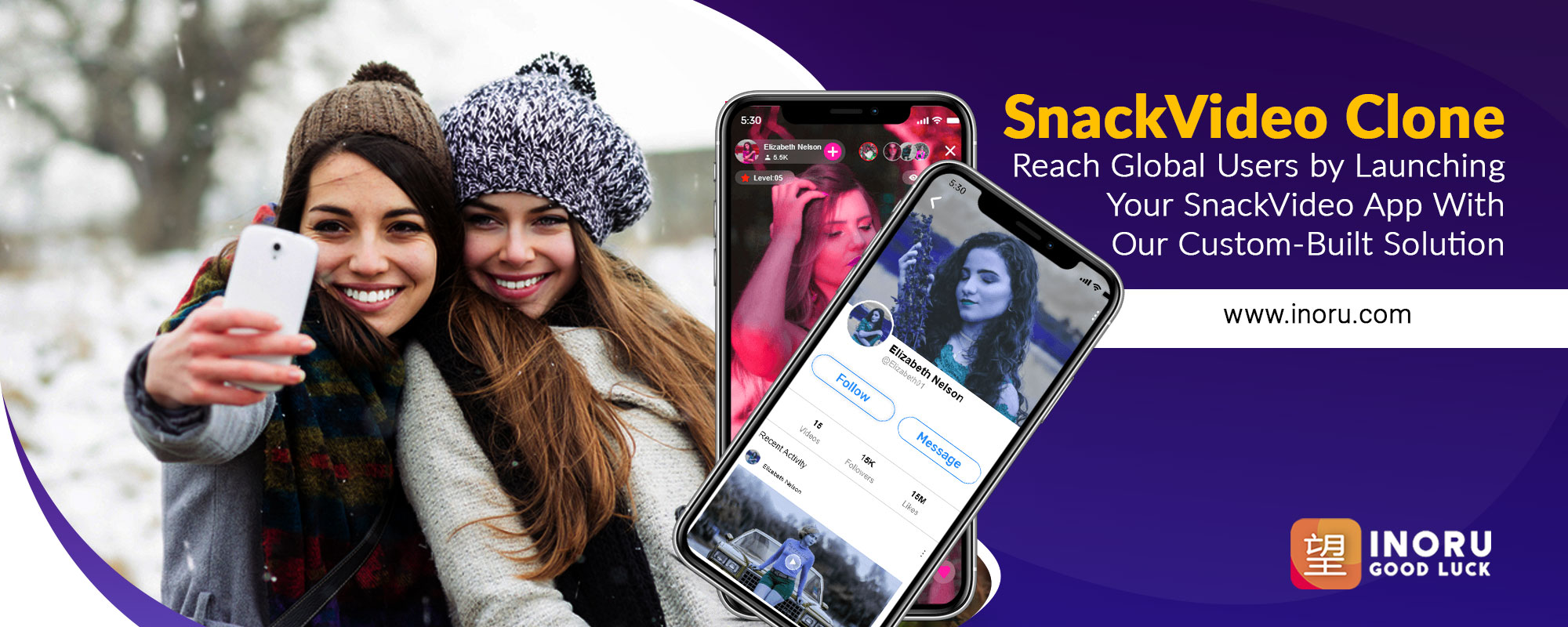 SnackVideo clone - Reach global users by launching your SnackVideo app with our custom-built solution