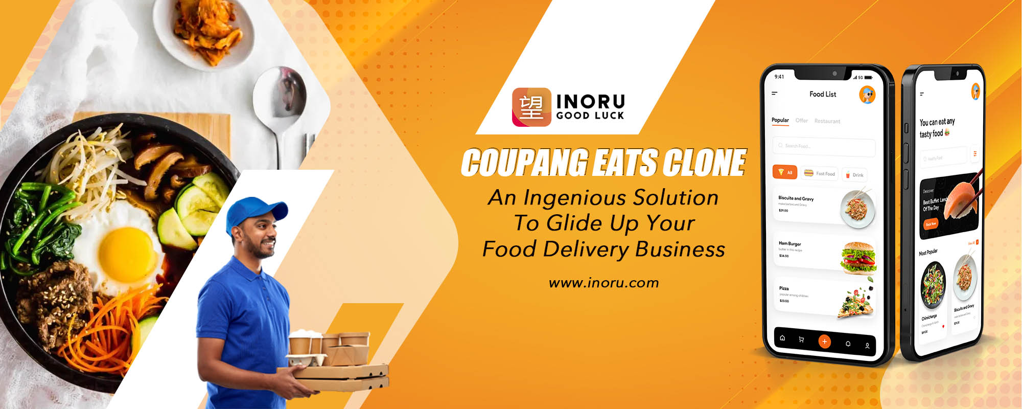 Coupang Eats Clone, Online Food Delivery, Delivery Restaurant near me, Food Delivery App, UberEats Clone